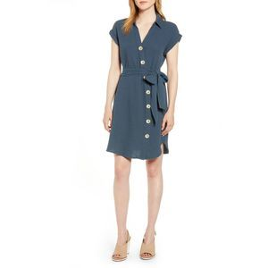1. State Button Down Shirtdress